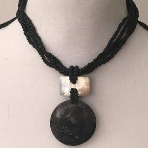 Abalone and shell necklace